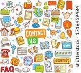 set of contact vector cartoon... | Shutterstock .eps vector #1716459484