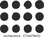 round black brush stroke... | Shutterstock .eps vector #1716478651