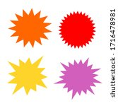 bursting shape speech bubbles...   Shutterstock .eps vector #1716478981