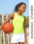 13 year old girl basketball... | Shutterstock . vector #17164804