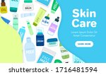organic or natural cosmetics.... | Shutterstock .eps vector #1716481594