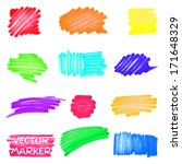 set of vector colored marker... | Shutterstock .eps vector #171648329