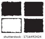 grunge frame set.abstract... | Shutterstock .eps vector #1716492424
