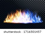 yellow and blue fire flame ... | Shutterstock .eps vector #1716501457