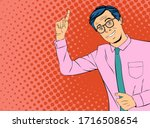 young businessman giving advice ... | Shutterstock .eps vector #1716508654