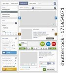 web design elements set. online ... | Shutterstock .eps vector #171654071