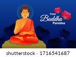 happy buddha purnima greeting... | Shutterstock .eps vector #1716541687
