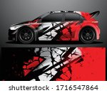 rally car decal graphic wrap...   Shutterstock .eps vector #1716547864