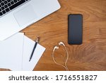 flat lay background of creative ... | Shutterstock . vector #1716551827