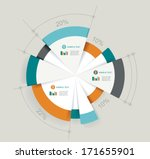 business pie chart for... | Shutterstock .eps vector #171655901