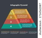 pyramid 3d info chart graphic...   Shutterstock .eps vector #1716562087