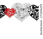 black and white ornamental ... | Shutterstock .eps vector #171656255
