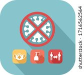 barrier gestures icon to... | Shutterstock .eps vector #1716562564