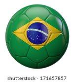 brazil national flag football... | Shutterstock . vector #171657857