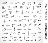 vector set of hand drawn arrows ... | Shutterstock .eps vector #1716579757