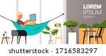 woman freelancer using laptop... | Shutterstock .eps vector #1716583297