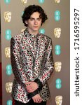 Small photo of London, United Kingdom - February 10, 2019: Timothee Chalamet attends the EE British Academy Film Awards at Royal Albert Hall in London, UK.