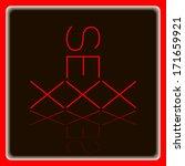 xxx button icon adult symbol