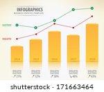 golden diagram with two... | Shutterstock .eps vector #171663464