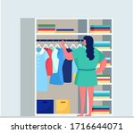woman character choose stylish...   Shutterstock .eps vector #1716644071