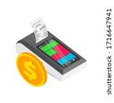 isometric smart payment... | Shutterstock .eps vector #1716647941