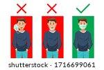 no face mask no entry.stop the... | Shutterstock .eps vector #1716699061