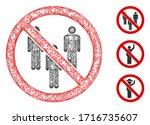 mesh stop man group polygonal... | Shutterstock .eps vector #1716735607