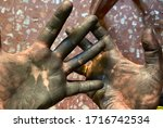 Dirty Hands After Repairing A...