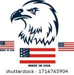 american eagle patriotic logo.... | Shutterstock . vector #1716765904