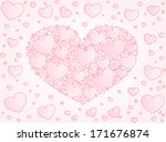 valentine card heart from... | Shutterstock .eps vector #171676874