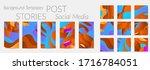 abstract vector instagram... | Shutterstock .eps vector #1716784051
