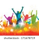 young people on the party .  | Shutterstock . vector #171678719