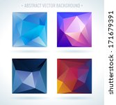 set of abstract 3d geometric... | Shutterstock .eps vector #171679391