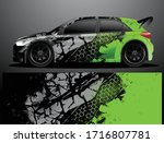 rally car decal graphic wrap... | Shutterstock .eps vector #1716807781