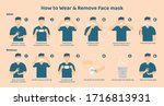 how to wear and remove the mask ... | Shutterstock .eps vector #1716813931