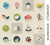 Set of logos, web Icons and business and abstract symbols - Vector Illustration, Graphic Design