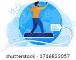internet surfing concept  man... | Shutterstock .eps vector #1716823057