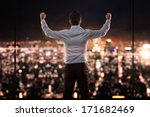 king of the world  young... | Shutterstock . vector #171682469