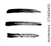 art black ink abstract brush...   Shutterstock .eps vector #1716826651