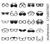 sunglasses icons set vector... | Shutterstock .eps vector #1716837007