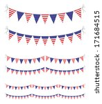 usa bunting set | Shutterstock .eps vector #171684515