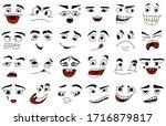 cartoon faces. kawaii cute... | Shutterstock .eps vector #1716879817