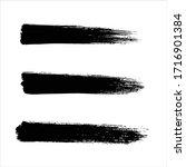 art black ink abstract brush... | Shutterstock .eps vector #1716901384