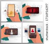 set banners of online... | Shutterstock .eps vector #1716916297