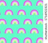 hand drawing rainbow pattern... | Shutterstock .eps vector #1716922321