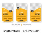 food menu banner social media... | Shutterstock .eps vector #1716928684