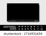 template video frame. video... | Shutterstock .eps vector #1716931654