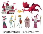 icons set of medieval kingdom... | Shutterstock .eps vector #1716968794