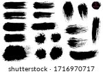 a set of brushstrokes. a... | Shutterstock .eps vector #1716970717