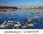 starting freeze on the irtysh... | Shutterstock . vector #171697379
